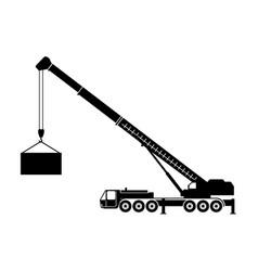 crane truck vector image vector image