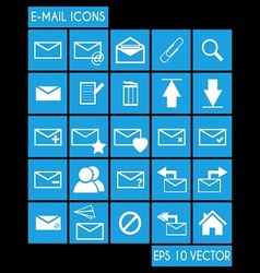 E-mail Icon Set vector image vector image