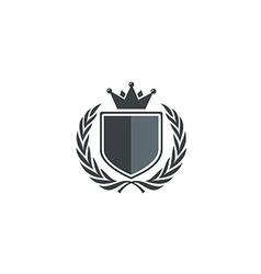 Emblem shield king identity logo vector