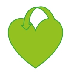 heart green ecology icon vector image