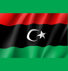 Libya realistic flag vector