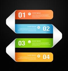 Modern banner design template vector image