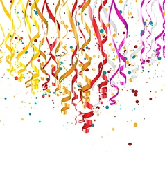 Ribbons with Confetti vector image vector image