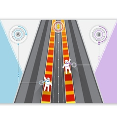 Road competition vector