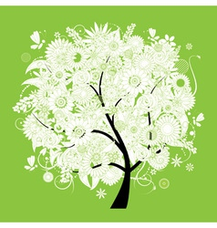Spring beautiful white tree for your design vector image vector image