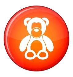 Teddy bear icon flat style vector