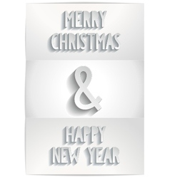 White christmas card with extensive text vector