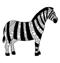 Zebra mandala icon vector