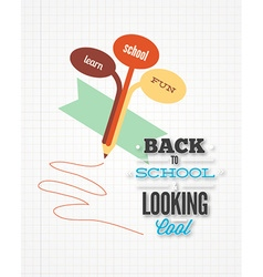 Education with pencil vector
