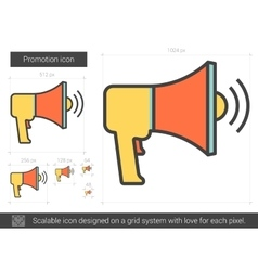 Promotion line icon vector