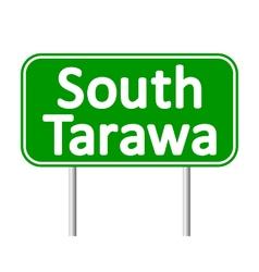 South tarawa road sign vector