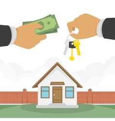 Buying a house vector