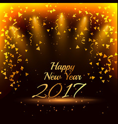 Stylish happy new year 2017 party background with vector