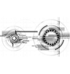 technological space drawing interface background vector image
