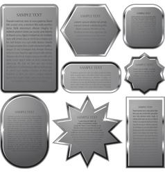 Silver label frame eps 10 vector
