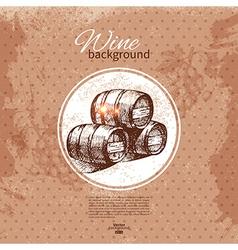 Wine vintage background vector image