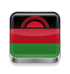 Metal icon of malawi vector