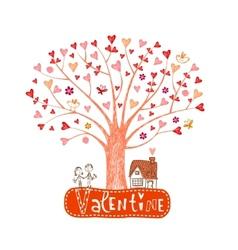 Valentine tree vector image