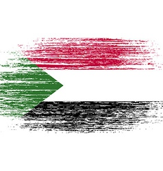 Flag of sudan with old texture vector