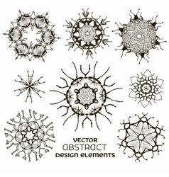 Abstract design elements set vector