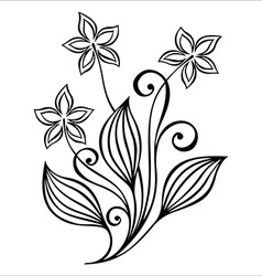 Artistic flower design vector