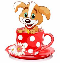 cup dog vector image