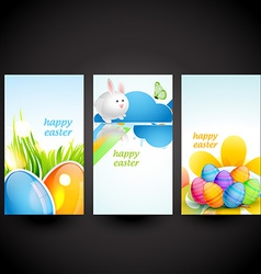 Three easter cards vector