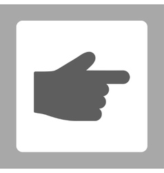 Index finger flat dark gray and white colors vector