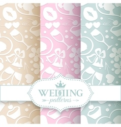 Pale romantic seamless patterns vector