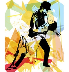Latino dancing couple vector