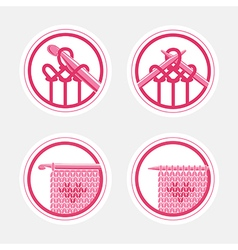 Knitting Logo Concepts vector image