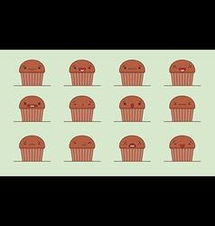 Muffin emoji vector