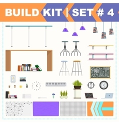 Build kit 4 office furniture vector