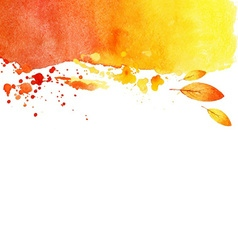 Autumn grunge watercolor background vector