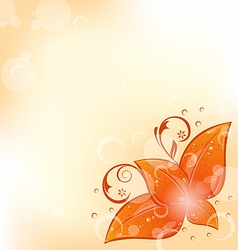 Autumnal background with set orange leaves vector image vector image