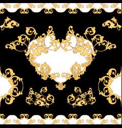 Baroque decorative element seamless pattern vector