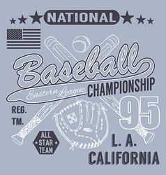 Baseball sport typography Eastern league los vector image