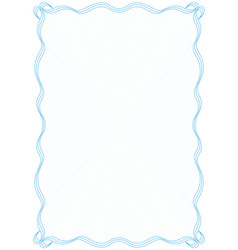 blue frame border with security protective grid vector image vector image