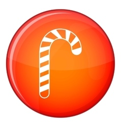 Candy cane icon flat style vector