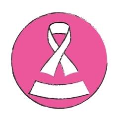 Emblem ribbon breast cancer signal vector
