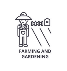 farming and gardening line icon outline sign vector image vector image