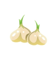 Garlic bright color simple vector