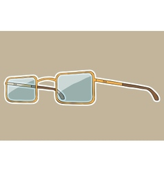Glasses with white outline hand drawn vector image vector image