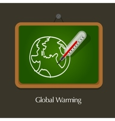 global warming education vector image vector image