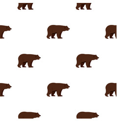 Grizzly bear pattern seamless vector