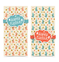 happy easter banners vector image vector image