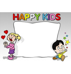 Happy Kids Background vector image vector image