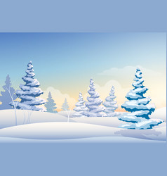 merry christmas natural background vector image vector image