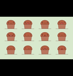 Muffin emoji vector