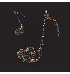 Music note icons like big music note eps10 vector